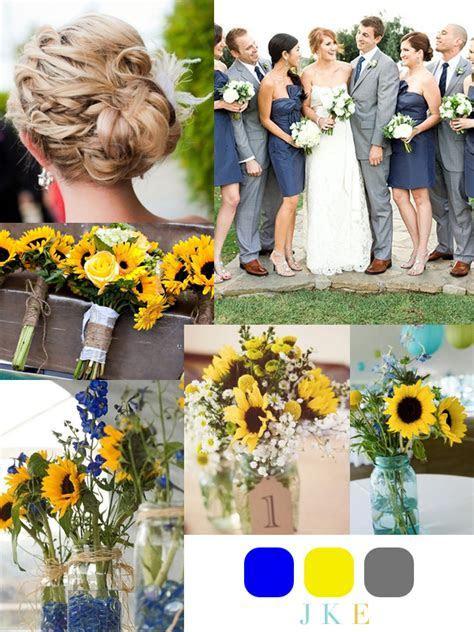 Sunflower Themed Weddings   Yellow & Blue ? Sunflower