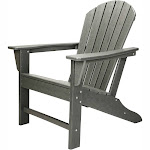 Leisure Classics UV Protected Indoor Outdoor Adirondack Lounge Deck Chair, Gray by VM Express