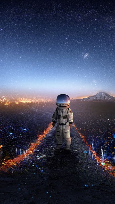 wallpaper astronaut surreal signal hd creative
