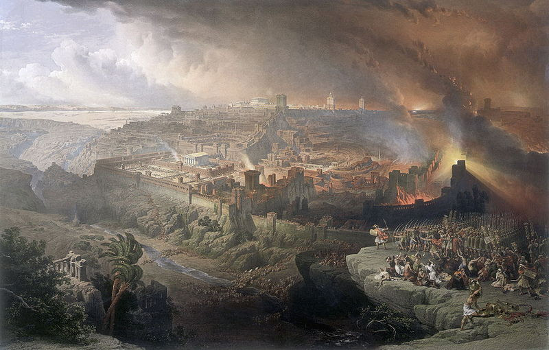 Roman Destruction of Jerusalem by David Roberts Cir 1850