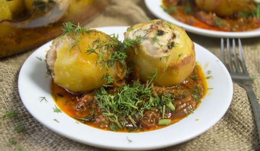 Картофельные гнезда с курицей рецепт с фото
