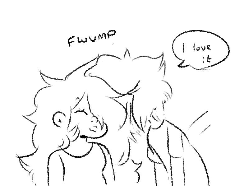 lapis is very tired (bonus mom-friend pearl)