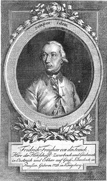 Engraving of Friedrich von der Trenck