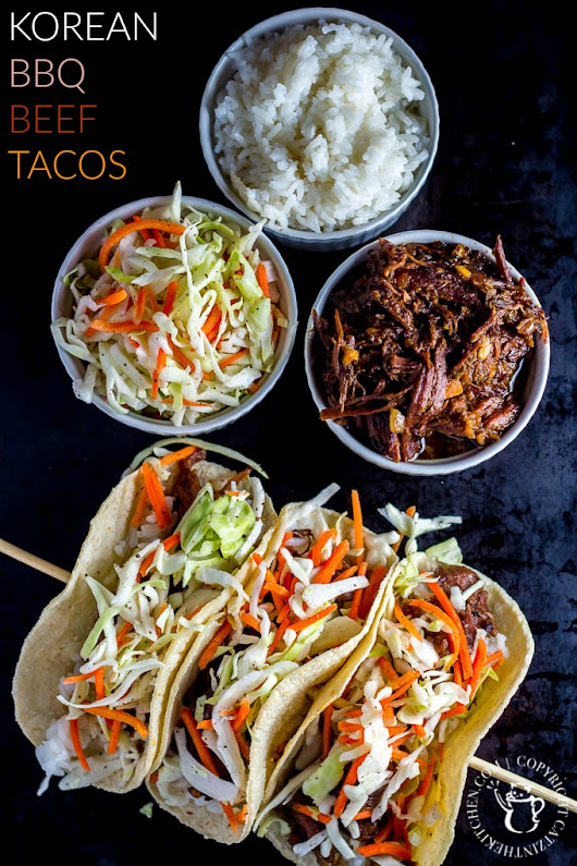 Slow-Cooker Korean BBQ Beef Tacos - Catz in the Kitchen