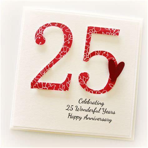 25th Anniversary Custom card personalised wedding silver