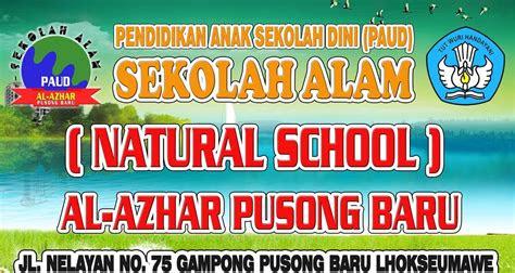 design sop advertising paud sekolah alam al azhar pusong