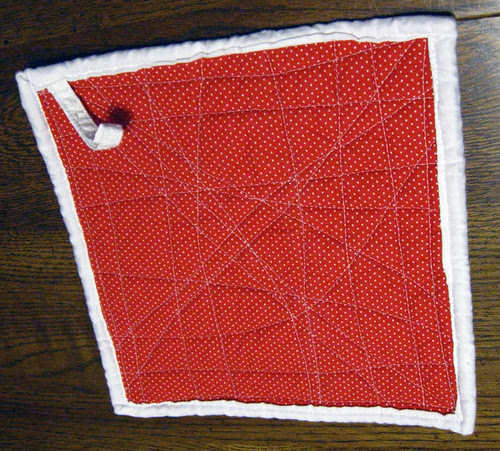 String Potholder back