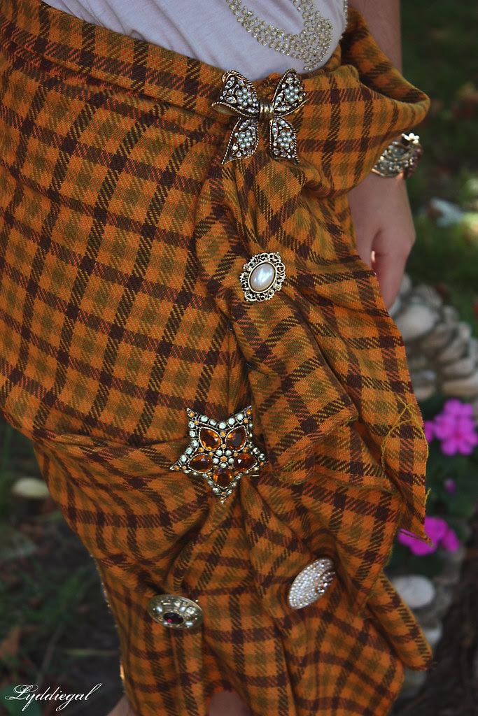plaid and broaches