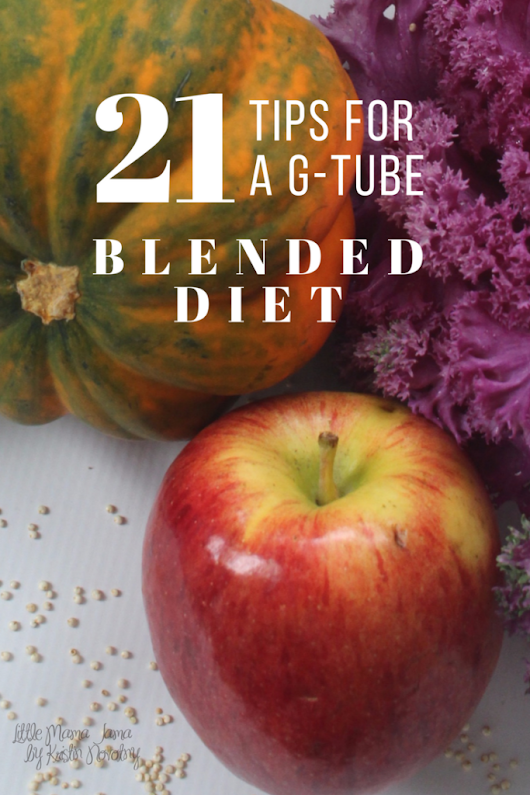 21 Tips for a G-Tube Blended Diet - Little Mama Jama