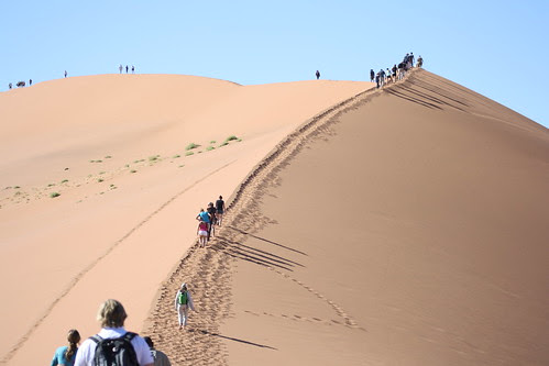 About to climb Big Daddy - Sossuvlei