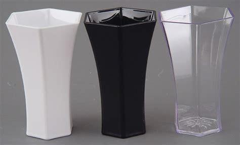 """Plastic Flower Vase, 10"""" Hexagon"""