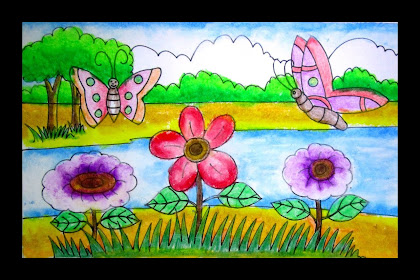 Garden Drawing For Kids
