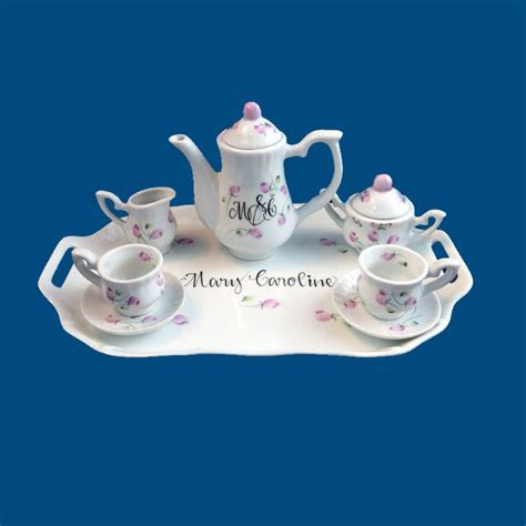 Personalized Gifts   Gifts For Her   Mini Childs Tea Set