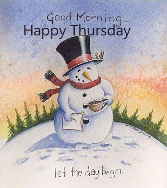Winter Good Morning Happy Thursday Quote Pictures Photos And