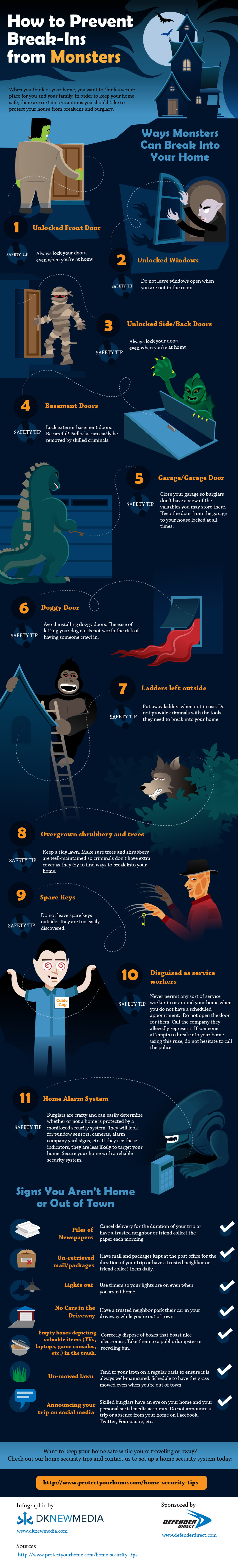 Infographic: How To Prevent Break-Ins From Monsters