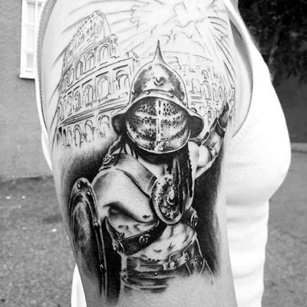 Valiant Gladiator Tattoo Designs (20)