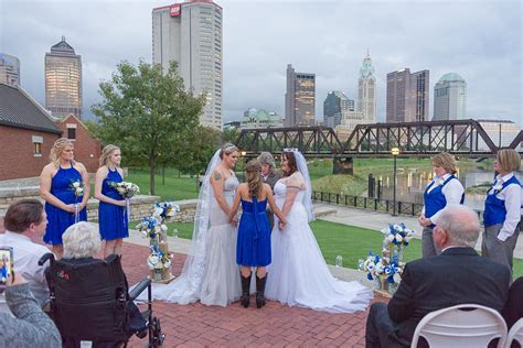 Blue, cowboy boot wedding in Columbus, Ohio   Equally Wed
