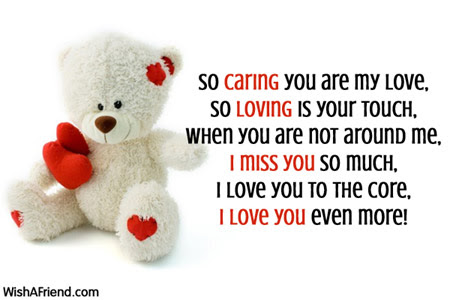 So Caring You Are My Love Love Message For Husband