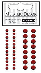 Hero Arts Red Metallic Decor Embellishments CH188