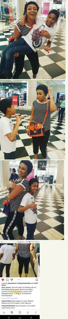 Actress Doris Simeon Celebrates Her Birthday With Her Son In The US (Photos)