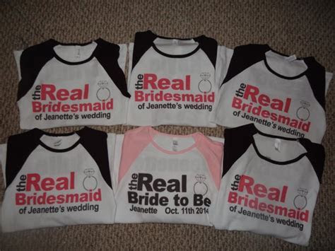 Bachelorette Party Shirts Real Bridesmaids Bridal party
