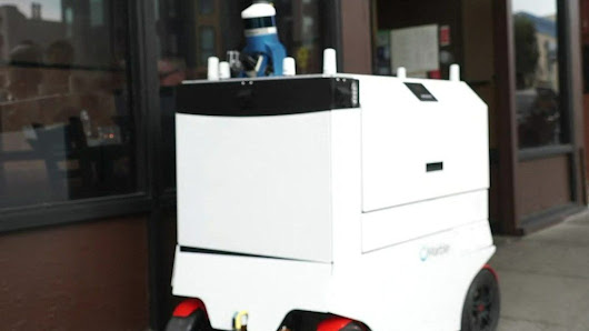 San Francisco's food delivery service by robot - BBC News