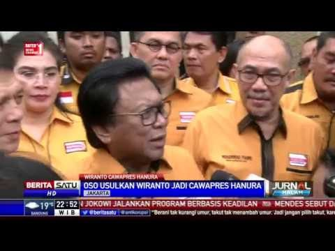 OSO Usulkan Wiranto Jadi Cawapres Hanura di Pemilu 2019