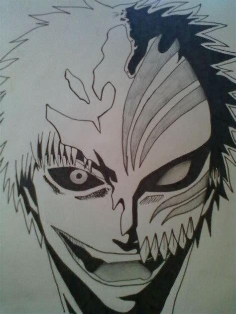 easy bleach drawings bleach ichigo hollow mask