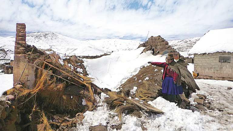 Perú declara el estado de emergencia por nevadas en 38 distritos del país