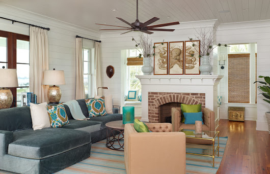 Old Village - Mt. Pleasant - Tropical - Living Room - charleston - by Structures Building Company