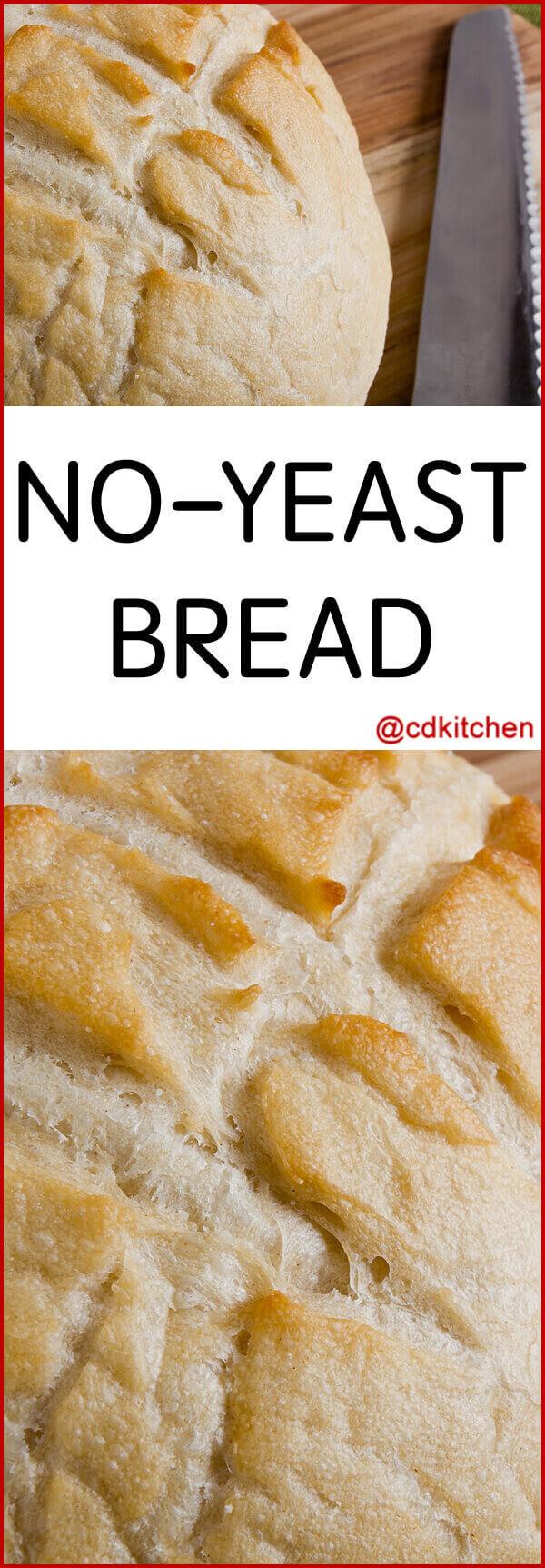 easy bread recipe no yeast no baking powder