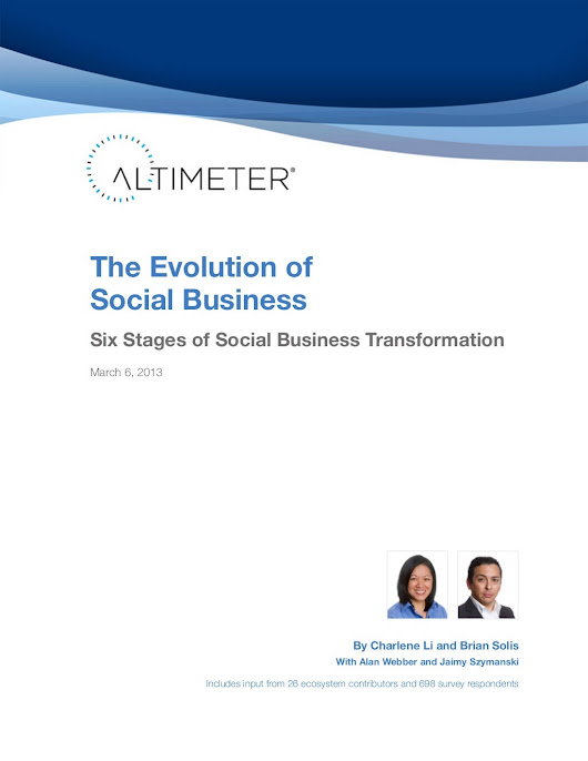 [Report] The Evolution of Social Business: Six Stages of Social Med...
