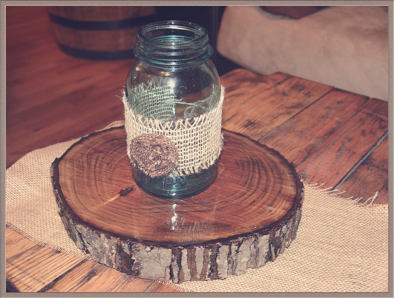 Burlap Mason Jar Wrap,wedding centerpiece,rustic wedding,table decoration,floral arrangement,burlap wedding,country wedding,jar centerpiece