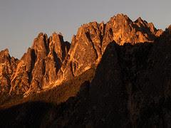 Snagtooth Ridge at Sunset