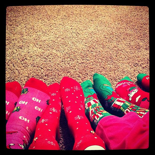 Christmas silly socks