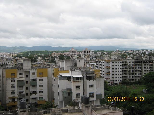 "View from Ready Possession 2 BHK Flat No. I 803 in Pethkar Projects' ""Balwantpuram Samrajya"", at Shivtirthnagar, Paud Road, Kothrud - Pune 411 038"