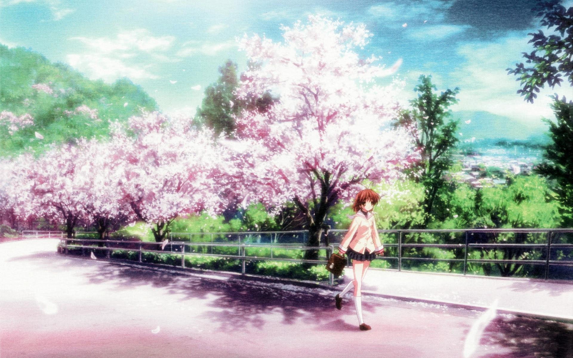 Wallpaper Pemandangan Anime Kampung Wallpaper