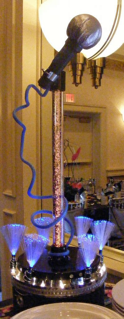 led microphone vase centerpiece jewish event planner bar