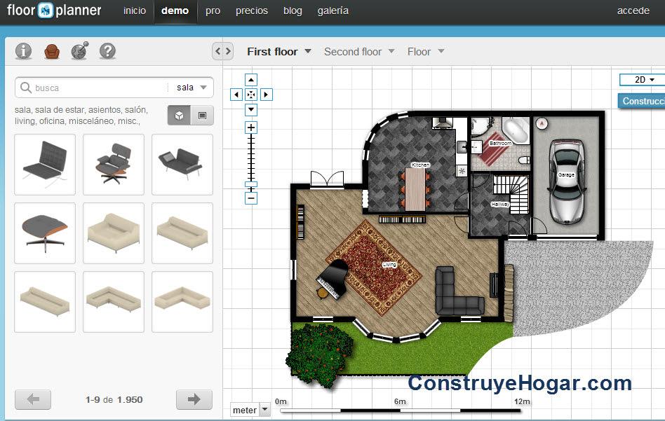 Floorplanner para hacer planos en línea de forma fácil