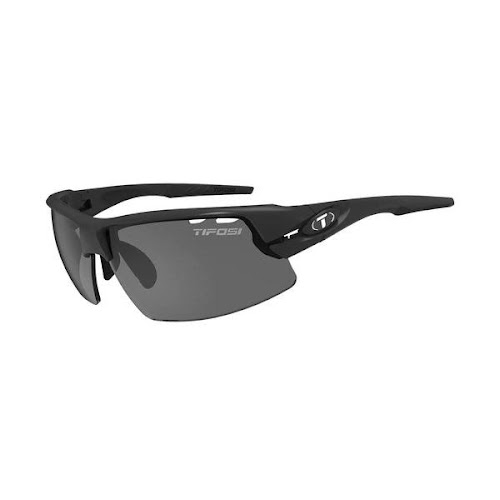 Tifosi Crit Polarized Sunglasses - Matte Black Frame - Clear Lens