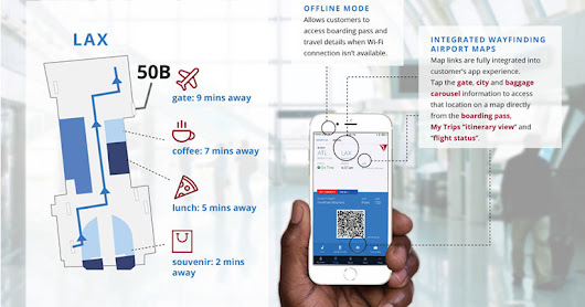 Delta enhances app with offline airport maps and wayfinding