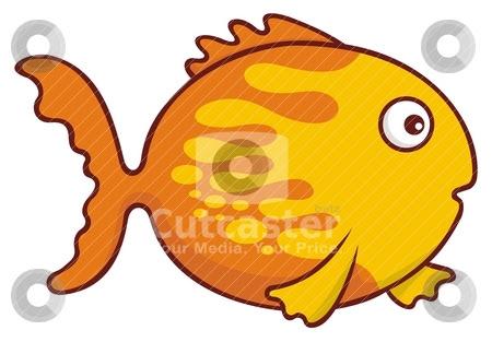goldfish cartoon image. orange goldfish cartoon