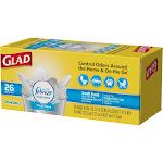 Glad OdorShield Trash Bags, Fresh Clean Scent, 4 Gallon, 26 Trash Bags/Box 78812