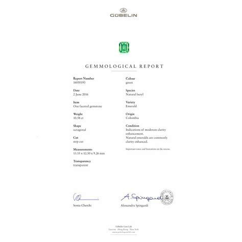 10.58 Carat Gubelin Certified Columbian Emerald and