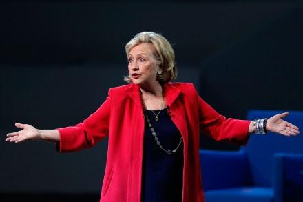 Hillary Clinton durante su intervención en el Auditorio Nacional. Foto: AP / Dario López-Mills