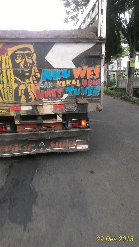 kumpulan tulisan lucu unik curcol  pantat truk pantura