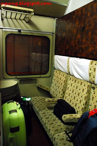 Overnight sleeper train to Aswan