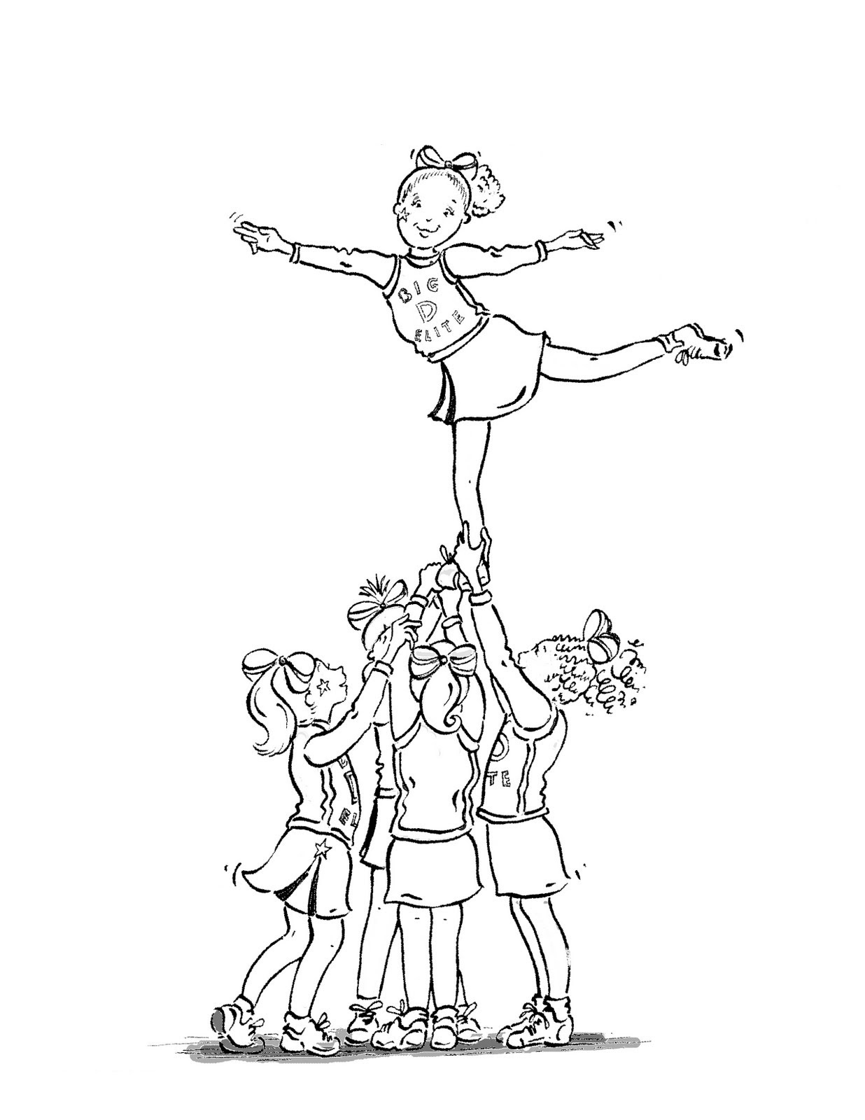 Cheerleading Coloring Pages For Kids