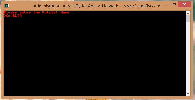 Enter SSID or Network Name Adhoc Network Windows 8.1