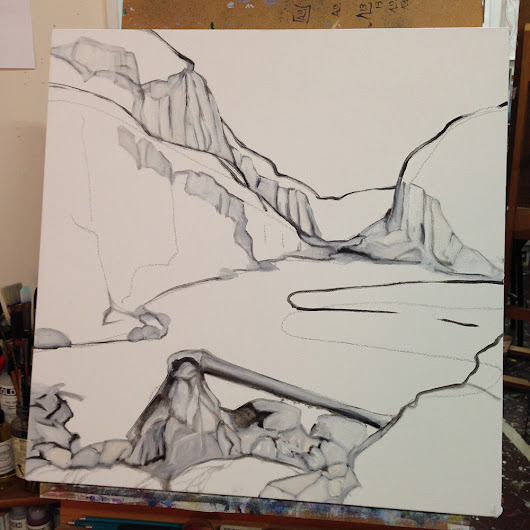 Studio Notes – New landscape started | The Eye of the Artist